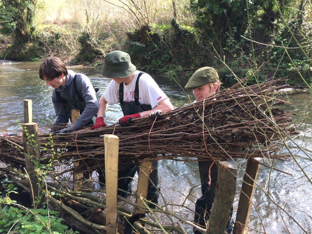 Marlborough College students at work on the Kennet